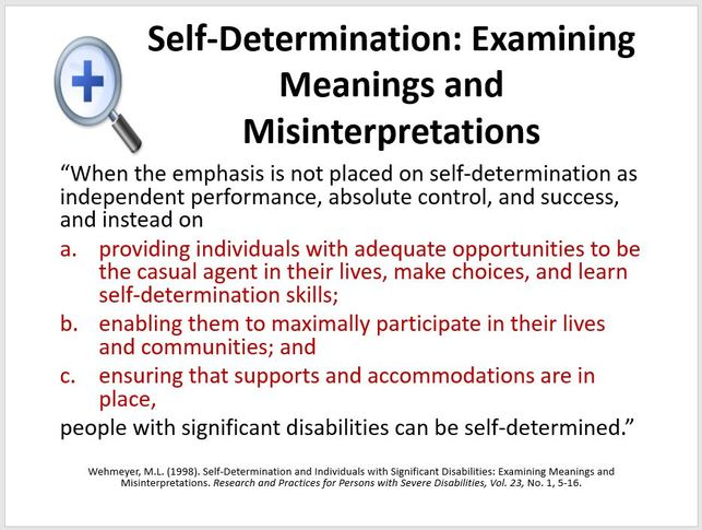 Synonyms for self-determination